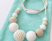 RESERVED for Julie***Boho 2 sensory teething/ nursing necklace