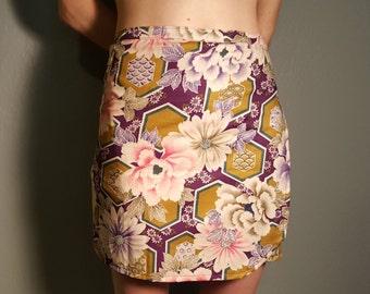 Floral Print Wrap Around Skirt