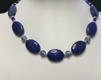 Lapis and Glass Necklace