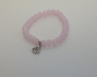 Pink bracelet, Buddha bracelet, semi-precious stones