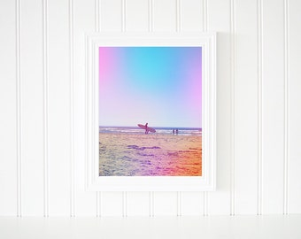 Surfer Girl Wall Art, Surfer Photograph, Beach Print, Ocean Print, Home Decor, Office Decor, Surfer Art, Female Gift, Digital Download