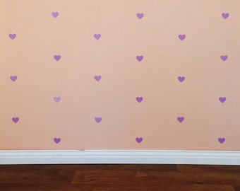 Heart Wall Decals - Removable vinyl wall decals/stickers