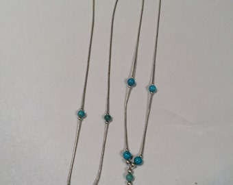 Turquoise Liquid Silver (4 Different Styles)