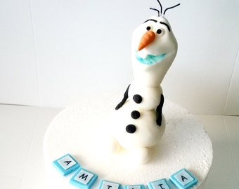 personalised edible cake decoration Frozen OLAF cake toppers personalised edible figure birthday decoration