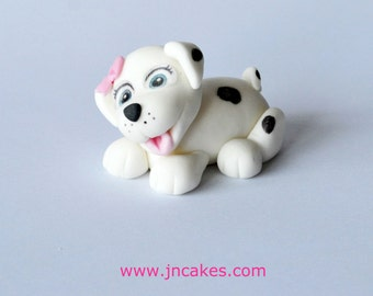 puppy cake toppers edible icing personalised birthday decoration