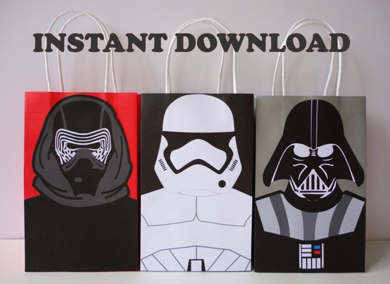Printable star wars starwars birthday party favor for Star wars dekoration