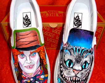 Custom VANS shoes hand-painted