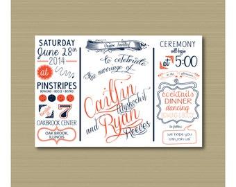 Custom Wedding Invitation - Electronic Version Only - Printable