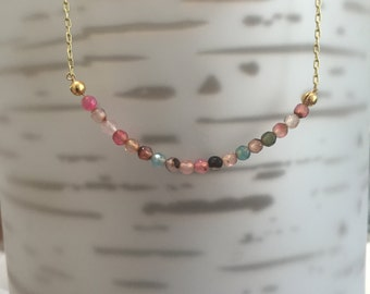 Sherbet Minimalist Gold/Sterling Silver Necklace