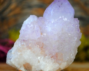 Amethyst Cactus Crystal Cluster Point  - Spirit Fairy Quartz  1058.86