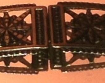 Vintage Art Deco Brass Belt Buckle