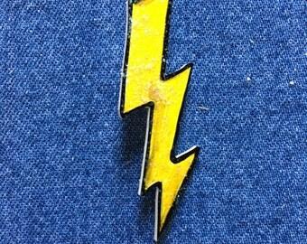 Glitter Lightning Bolt Pin