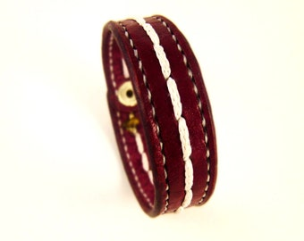 Maroon bracelet Custom Bracelet women bracelet gift Leather Bracelet Bracelet for women Bracelet for men unisex bracelet leather wrap