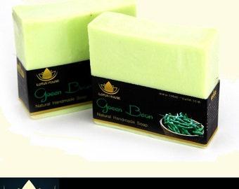 Lotus House Green Bean Natural Handmade Soap (300g) / 3 Bars