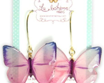 Resin butterfly earrings