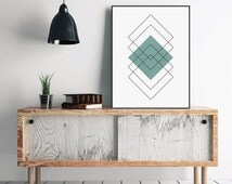 Diamond Print, Affiche Scandinave, Mid Century Art, Printable Wall Art, Bedroom Art, Nordic Art, Bedroom Wall Art, Top Sellers