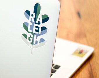 Raleigh, NC Oak Leaf Sticker