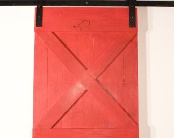 Industrial Sliding Barn Door Hardware Spoked Black Handmade