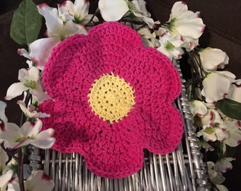Flower washcloths
