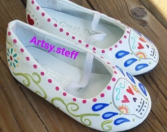 Day of the dead toddler flats