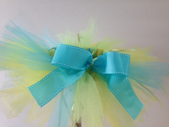 Green, Blue, and Yellow Baby/Infant Tutu