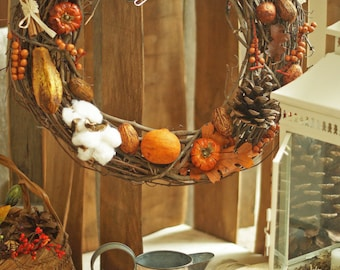Handmade Harvest/Fall Wreath