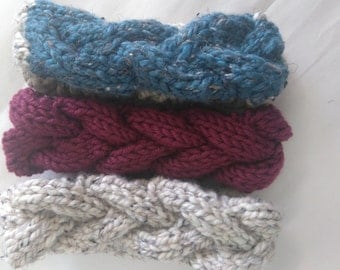 Knitted Headband, Ear warmers