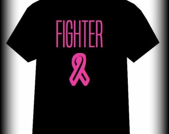 Cancer shirt, Breast Cancer shirt, Cancer Awareness, Pink Ribbon, Breast Cancer, Leukemia, Cancer Survivor, Run Shirt, Cure, S, M, L, XL