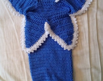 Bluebell Baby Cocoon and Hat