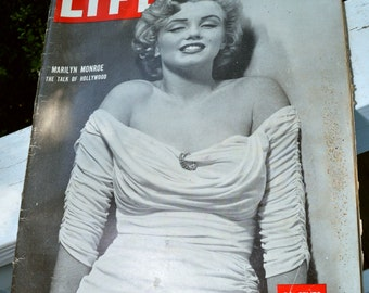 Vintage Life Magazine April 7, 1952: Marilyn Monroe and Interplanetary Saucers