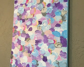 Bubblegum Abstract textured painting