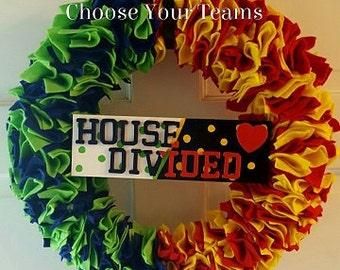 Seahawks/49ers House Divided Felt Wreath
