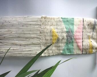 Woven Wall Hanging, Woven, Weaving, Weben, gewebter Wandteppich