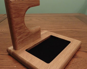 Solid Oak Watch / Bracelet and Jewellery Display Stand - Bedside Table