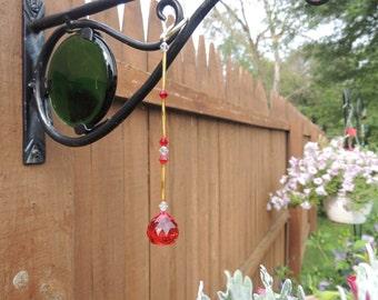 Red crystal suncatcher