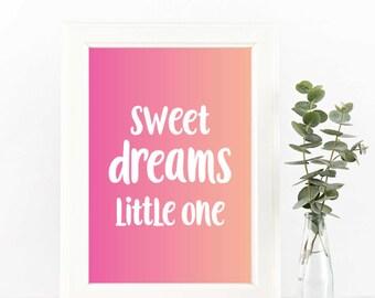 Girls Wall Art - Digital Print Bundle - Sweet Dreams PINK