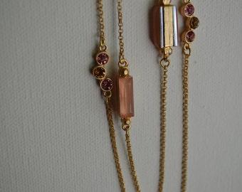 Long Color Block Necklace