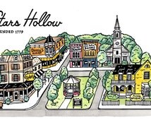 Gilmore Girls Stars Hollow Town Square 8 x 10 print