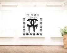CHANEL Themed Vinyl Decals/ Vinyl Decals CHANEL/ 20 chaner decal set/ chanel envelope seals/  chanel decor/ CC decals/ coco chanel decor