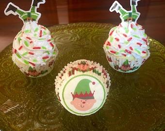 Playful Elf Fake Cupcake Trio