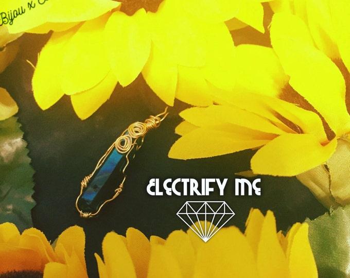 Electrify Me ~ Blue Luster Quartz Pendant