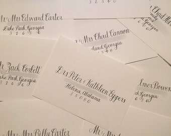 Wedding Invitation Calligraphy and Name Cards