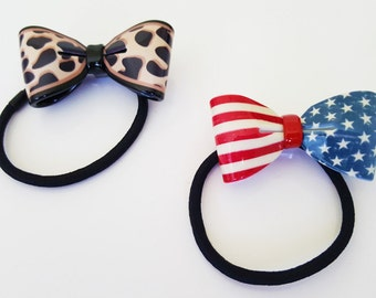 Girls Pony tail holder | Pony tail holder | Hair ties | Hair accessoires |  Elastic hair bands | Elastic hair ties | US Flag hair bands