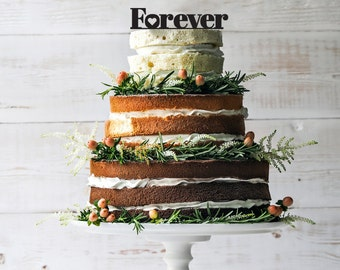 Personalized Forever wedding cake topper, Forever Cake Topper, Wedding Cake Topper, Cake Topper, Custom Cake Topper,Gold Cake Topper,Forever