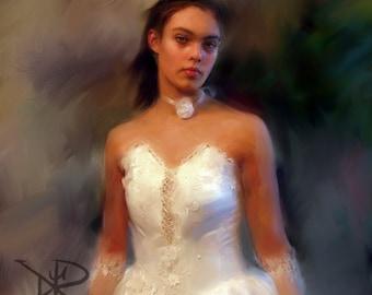 Wedding Custom Portrait.Digital Painting.Custom Portrait.Personalized Portrait.Anniversary Gift.Wedding Gift. Custom Wedding.