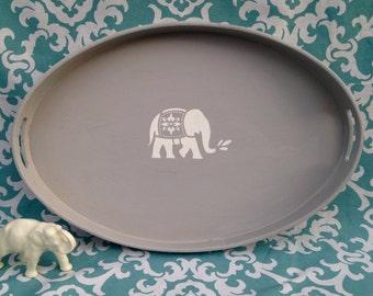 Boho Chic Elephant Serving Tray - Decorative Tray - Elephant Tray - Serving Tray