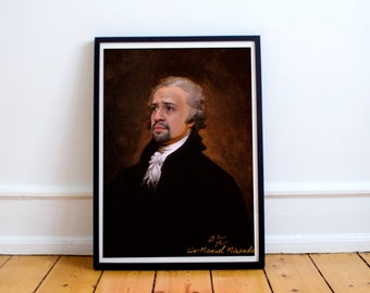 Alexander Hamilton (Lin Manuel Miranda) Classic Painting Photoshop Poster 5x7 8x10 12x16 13x19 18 x 24