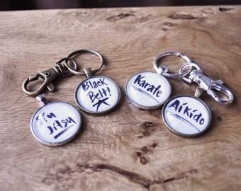 Black Belt Key Chain // Martial Arts Key Chain // Aikido Key Chain // Bronze Key Chain // Karate Key Chain // Jiu Jitsu Key Chain // Judo