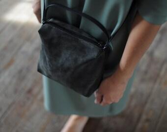 Khaki bag of genuine suede gabrielle_27