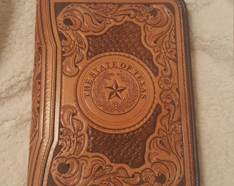 Handmade custom leather portfolio (made to order)
